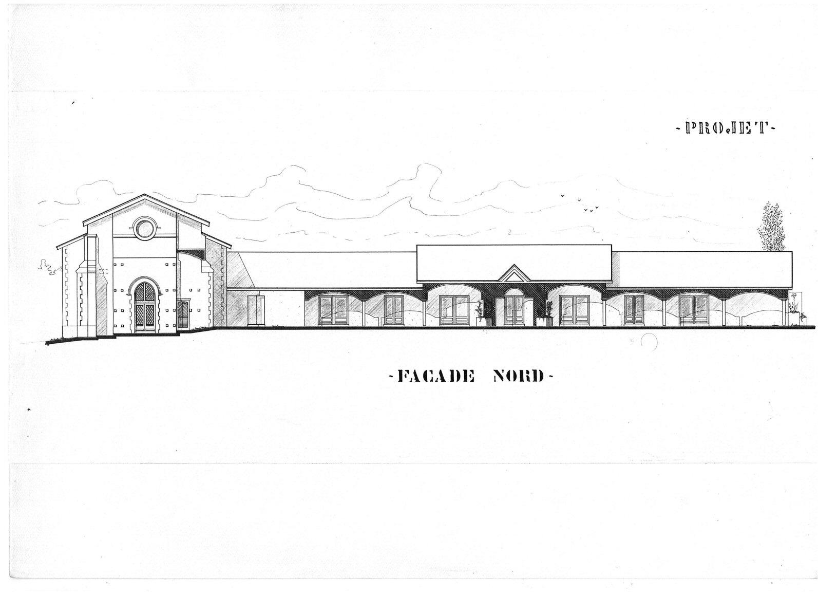 8 - état des lieux Façade Bâtisse pour Séminaire (32) - Architecte Jean-Marc Ritondo