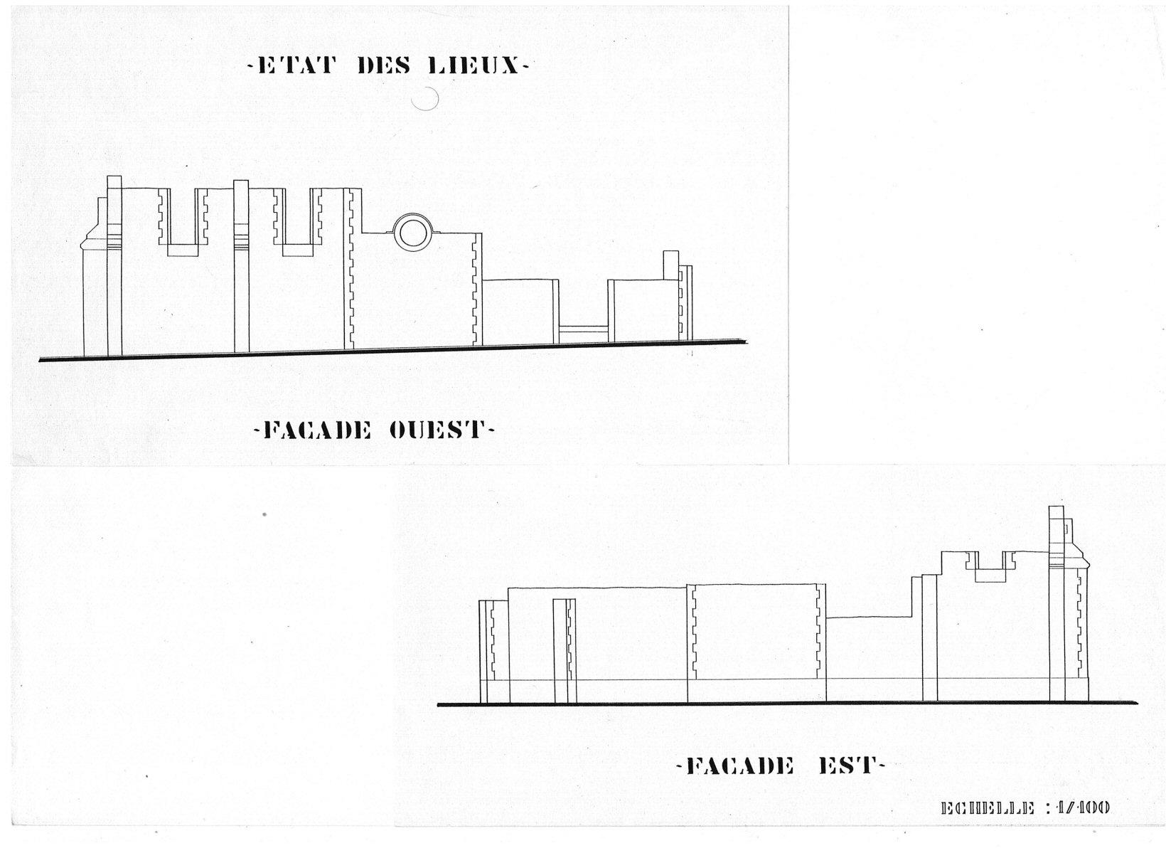 1- état des lieux Façade Bâtisse pour Séminaire (32) - Architecte Jean-Marc Ritondo