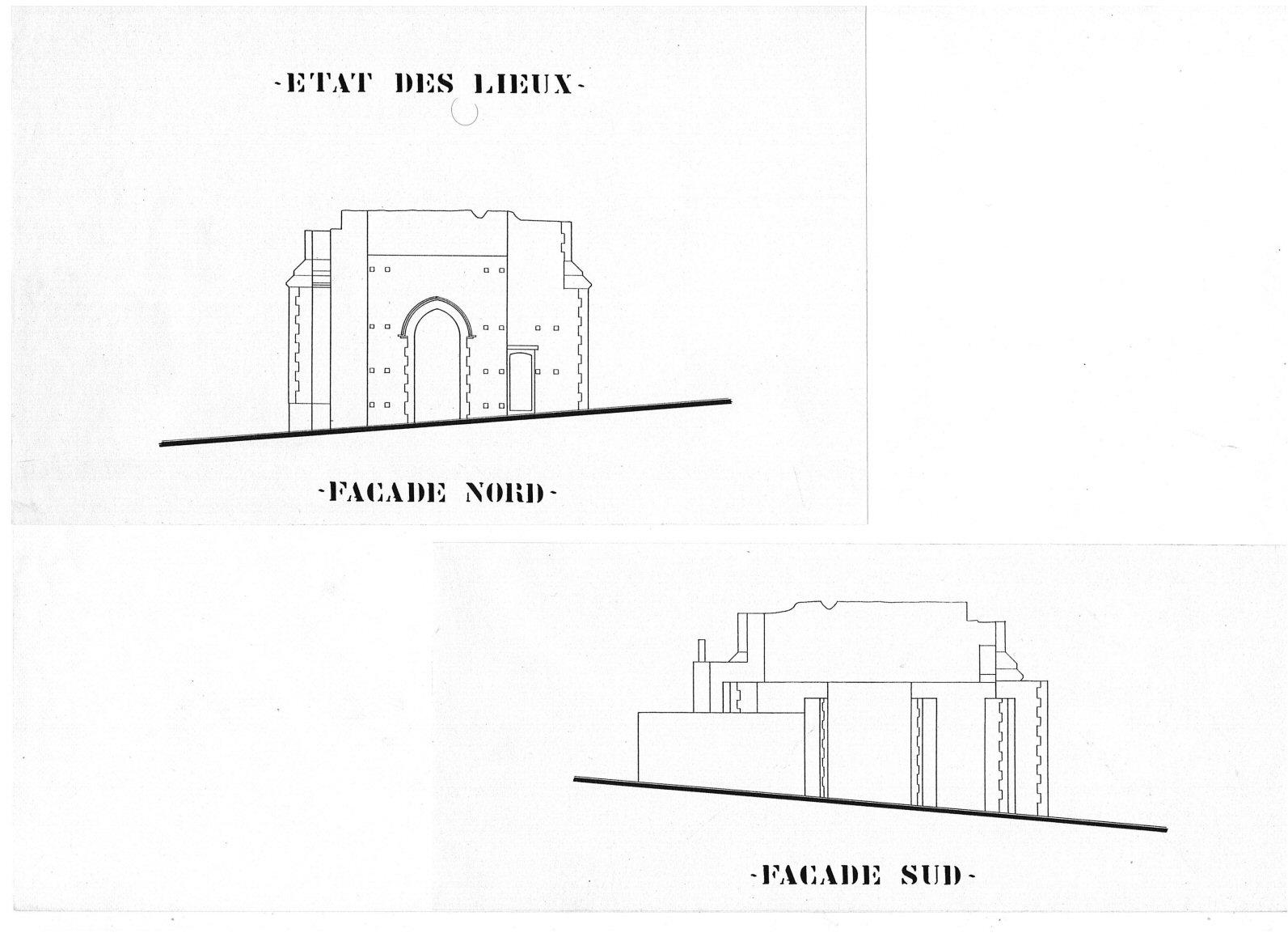 2- état des lieux Façade Bâtisse pour Séminaire (32) - Architecte Jean-Marc Ritondo