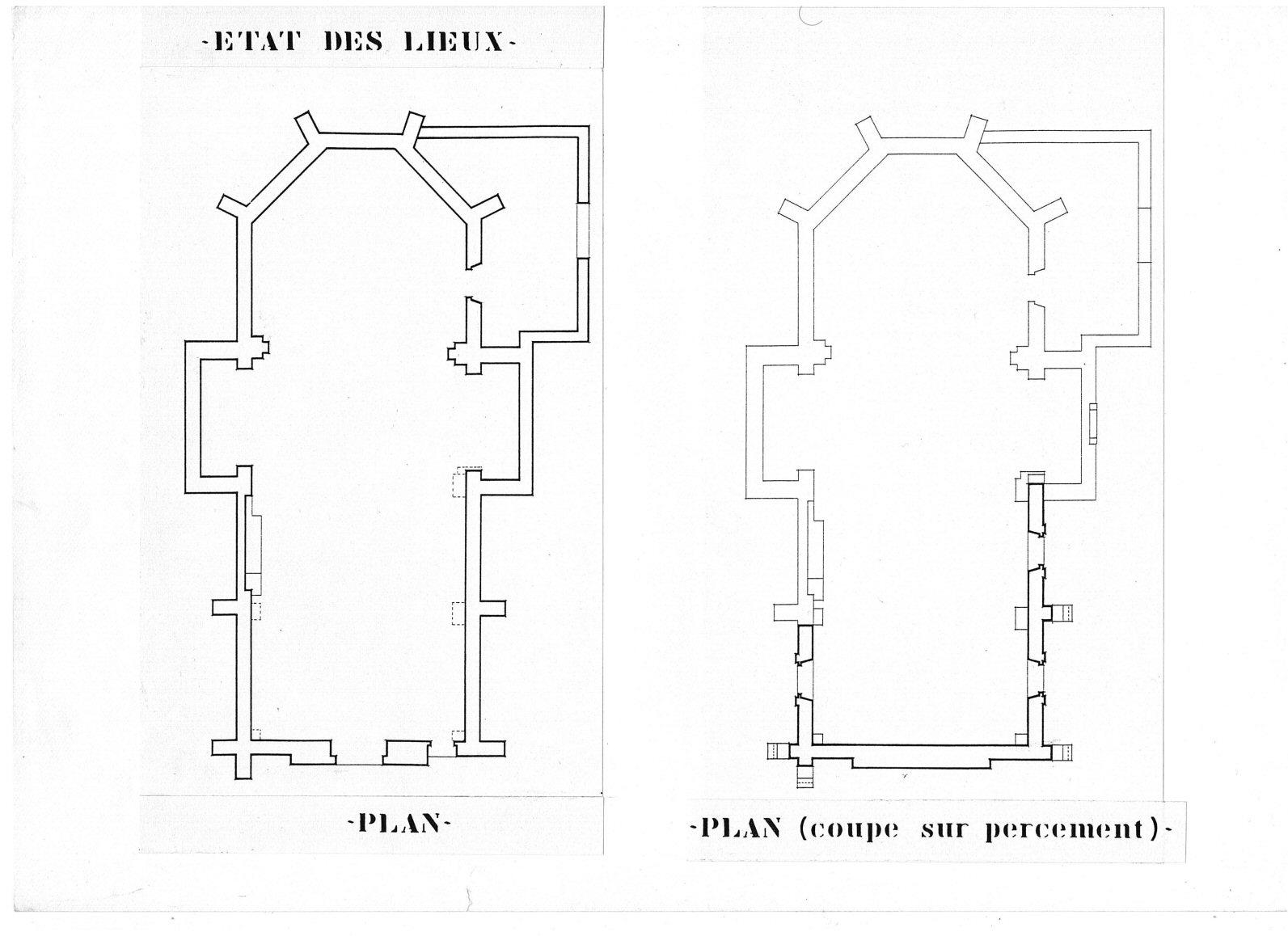 3- état des lieux Plan Bâtisse pour Séminaire (32) - Architecte Jean-Marc Ritondo
