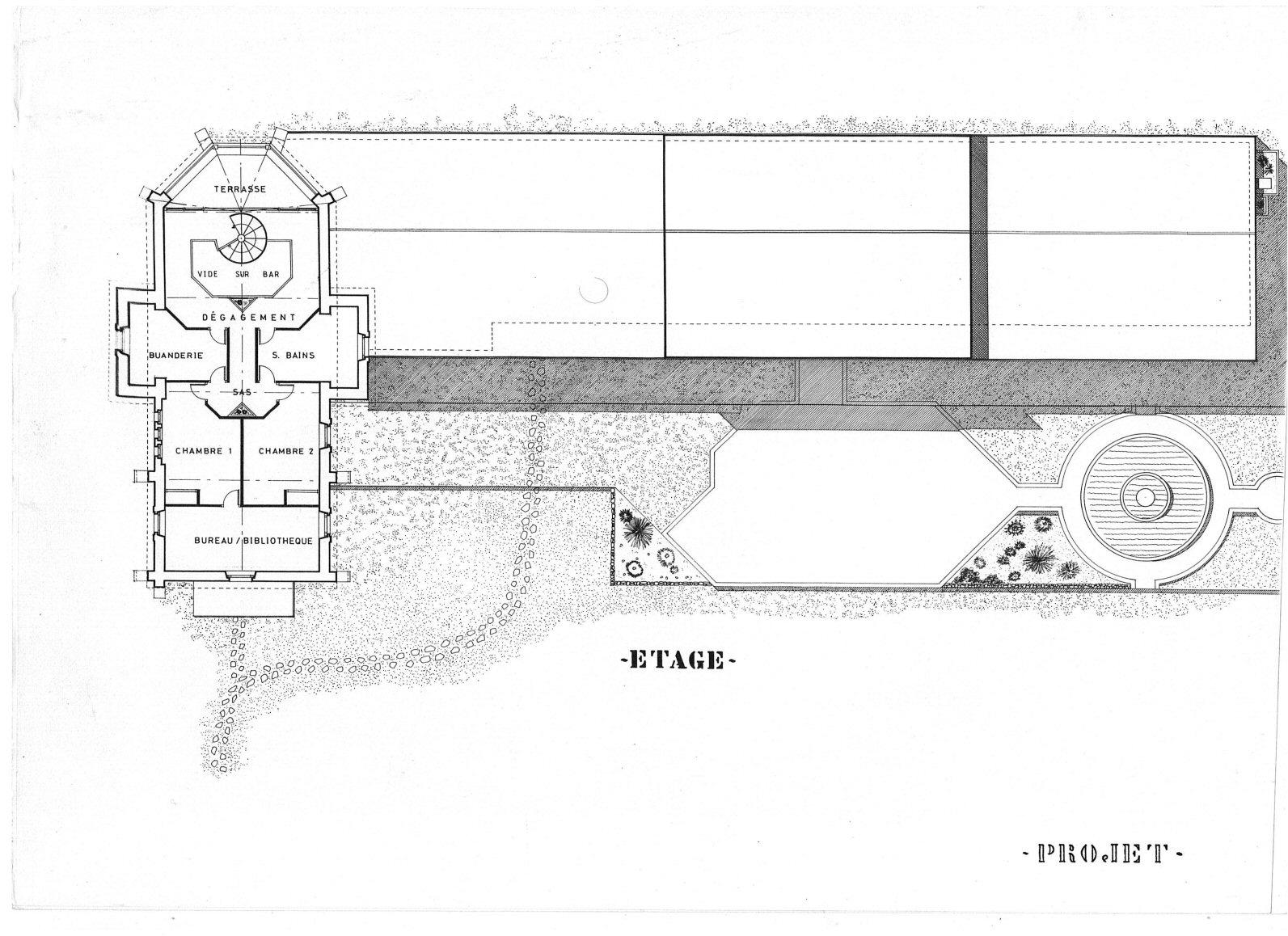 5 - état des lieux étage Bâtisse pour Séminaire (32) - Architecte Jean-Marc Ritondo