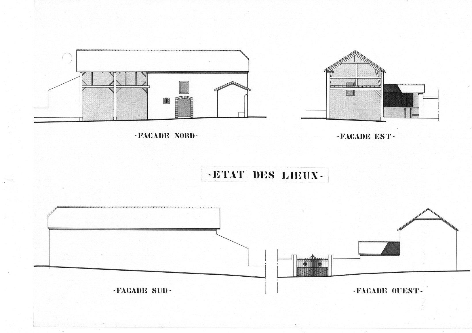 Perspective état des lieux projet de 4 logements - Architecte Jean-Marc Ritondo