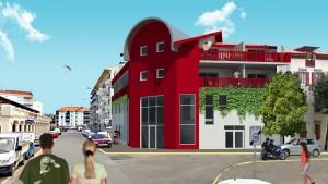 Projet de bâtiment tertiaire sur la côte basque - Architecte Jean-Marc Ritondo