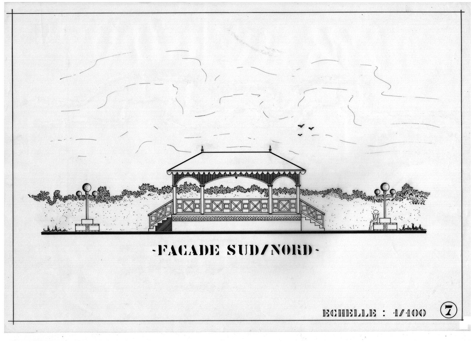 Projet d'un kiosque à musique dans le Gers (32) - Architecte Jean-Marie Ritondo